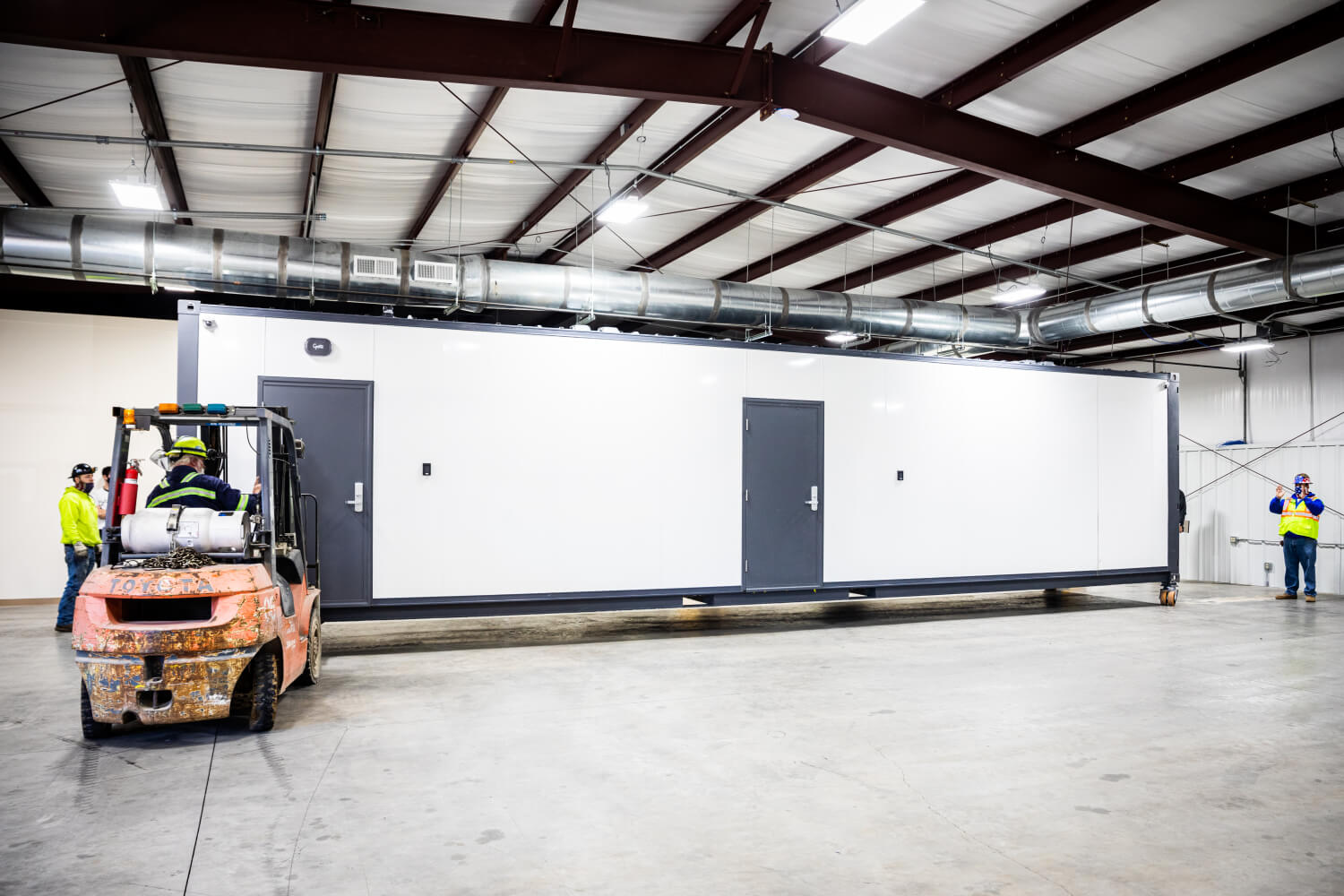 Installing mobile lab in partner facility